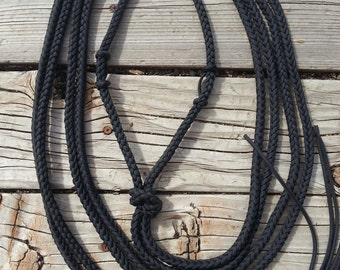 Rope Bosal with Round Split Reins