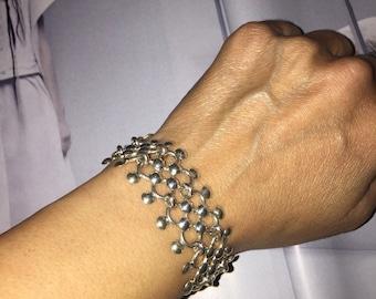 Fancy chain maille bracelet