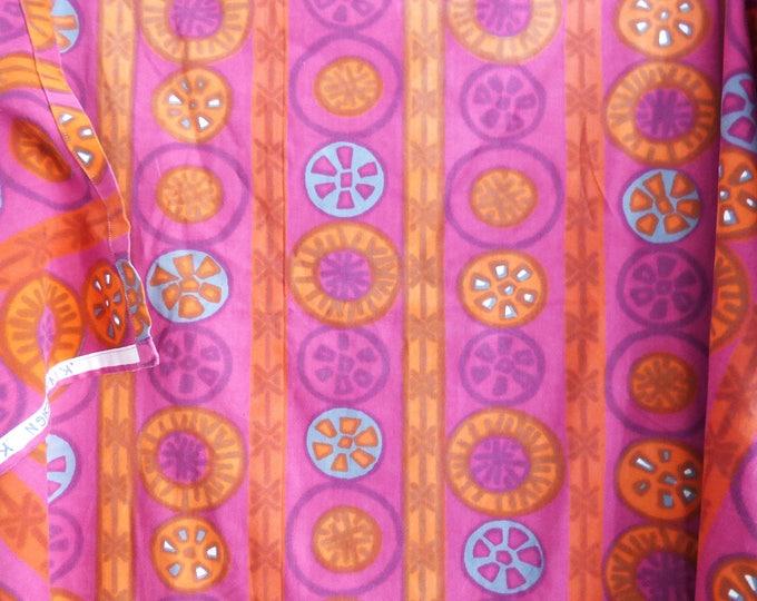 Vintage 1970's  table cloth or hemmed fabric Kjersti Østbø of Norway