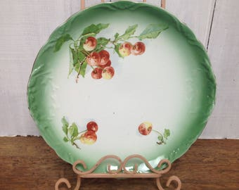Vintage cherry serving plate by E.L.P Co.