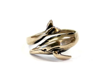 Humpback Whale Ring in Solid Bronze Humpback Whale Ring Humpback Whale Ring Jewelry 528