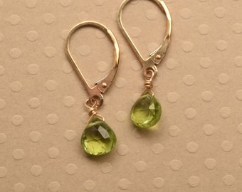 Peridot Earrings, August Birthstone Earrings, Green Gemstone Earrings, Healing Gemstone Jewelry