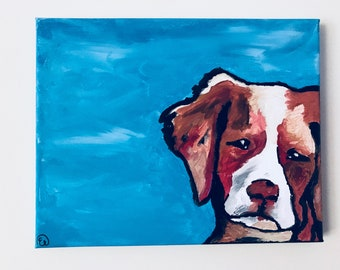 Doggie on canvas