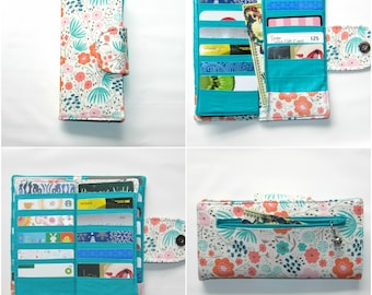 Bifold Card Wallet, Bifold Women Wallet, women's wallet, Card Organizer Wallet, 38 slots, Card Wallet, Credit Card Wallet, Purse Coin