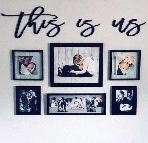 This is us wood words wood word cut out laser cut