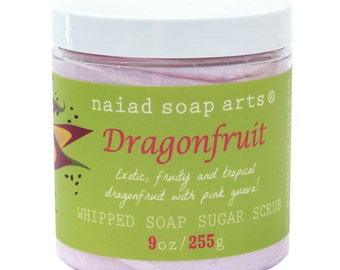 NEW - Dragonfruit Whipped Soap Sugar Scrub - Vegan and Cruelty free