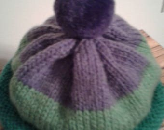 Purple Pompom Hat by Never Felt Better