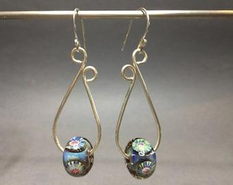 Sterling Silver and Lampwork Earrings