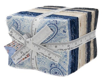 Regency Blues by Christopher Wilson-Tate for Moda Fat Quarter Bundle 37 FQ
