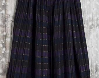 S_010) Vintage Blue/Purple diamond skirt