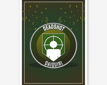 Call of Duty Zombies Deadshot Daquiri Perk a Cola - Black Ops 4 Zombies Perk Framed Art Poster