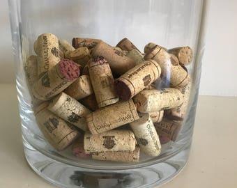 100 Used Wine Corks, Cork Craft, Wedding Craft Supplies