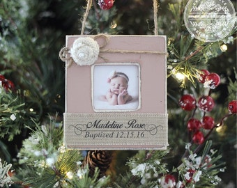 Baptism GIFT Christmas Ornament Personalized Unique GIFT Baby Baptism Dedication Christening