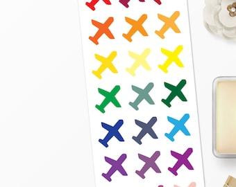 Planner Stickers Airplane for Erin Condren, Happy Planner, Filofax, Scrapbooking