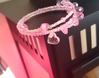 Original clear ROSE Cuff Bracelet gift
