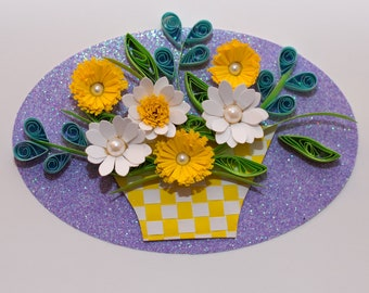 Basket quilling card