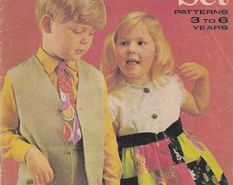 ON SALE Enid Gilchrist - Kindergarten Set -  Simple Sewing Designs - for Boys & Girls - 3 years to 6 years- 1970s