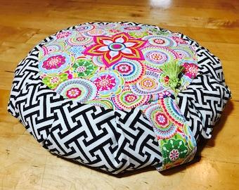Meditation Pillow, Meditation cushion, Yoga cushion, Yoga Prop, Zafu, Floor pillow, Supportive Pillow, Restorative Prop, Buckwheat