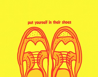 empathy Shoes  Art Print by Giraffes and Robots