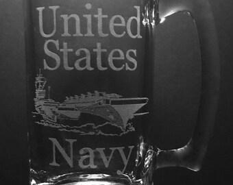 16 Ounce United States Navy Beer Mug