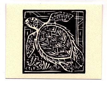 6 card set- Turtle- Hawaiian Honuea