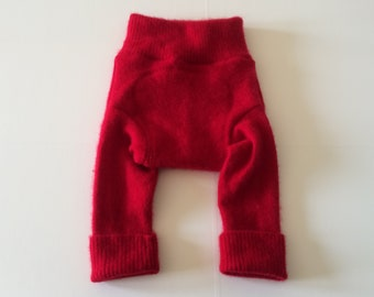 MEDIUM 100% Wool Diaper Cover, Upcycled Wool Soaker, Wool Longies