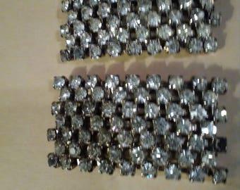 Musi shoe clips 1 pair of silvertone rhinestones.