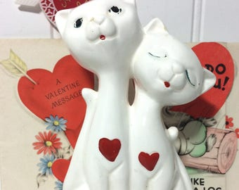 Vintage Valentine Love Cats
