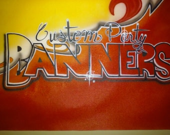 Custom Airbrushed Banners/ Backdrops for Parties, Graduations,  Weddings, or anything Else