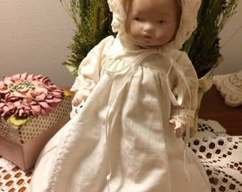Armand Marseille 8 inch Porcelain Baby Doll. A.M. Germany
