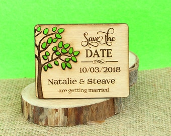 Tree Save the Date,wood save the date,save the date magnet, rustic wedding save the date, wood wedding save the date, wedding save the date