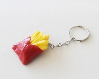 French Fries Keychain Polymer Clay