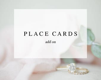 Place Card Add On - Made to Match