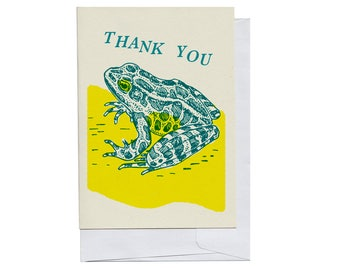 Frog Thank You Card