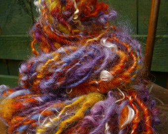 Handspun Art Yarn, Chunky Bulky Yarn, Curly yarn, Hand-dyed Yarn, Thick & Thin yarn, MYSTERY