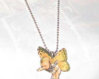 Butterfly Faerie Necklace Whimsical Jewelry