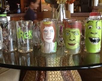 Shrek, or shrek:the musical beer mugs