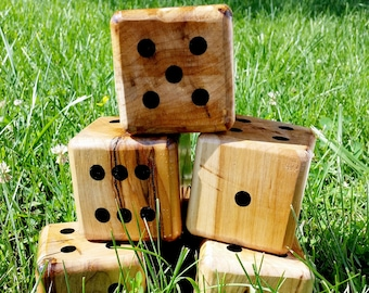 DICE ONLY! Yardzee, Farkle, Lawn Dice, Yard Game, Yard dice, Lawn Game, Wedding Reception Game, Outdoor Wedding, family game, outdoor game,
