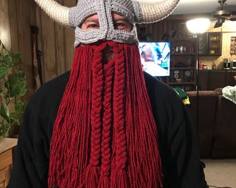 Crocheted Viking Hat
