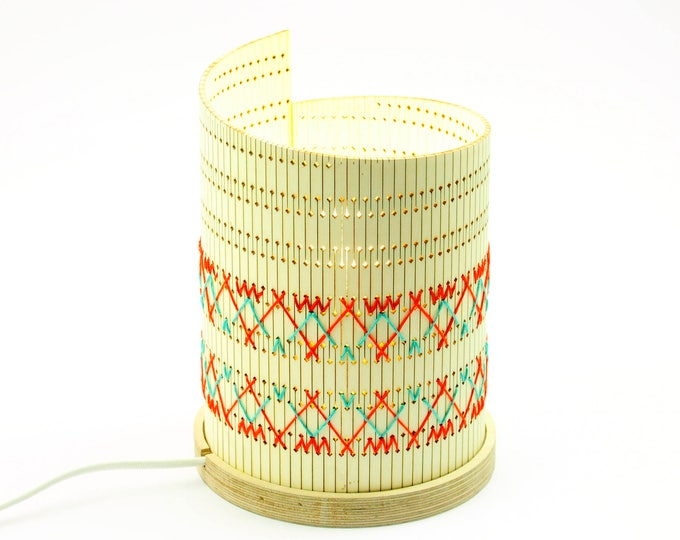 Featured listing image: Design > > OMGlow embroidered pattern Cuzco > table lamp hand embroidered