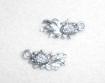 Silver Gold Fish  Charm