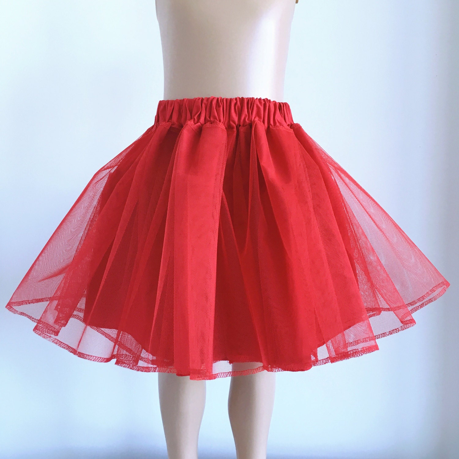 Red 50/'s Rockabilly Super Soft 26 inches Petticoat Skirt By Banned Apparel