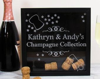 Champagne Cork Collection Box-Personalised Prosecco cork box-Wine Cork Holder-Champagne Cork Holder-Cork Keeepsake Box, Cork