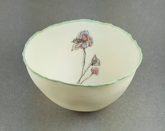 Delicate Porcelain Small Bowl #06