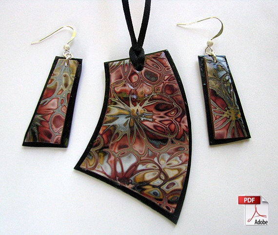Hidden flowers polymer clay jewelry tutorial from aroundbeads on hidden flowers polymer clay jewelry tutorial from aroundbeads on etsy studio mozeypictures Image collections