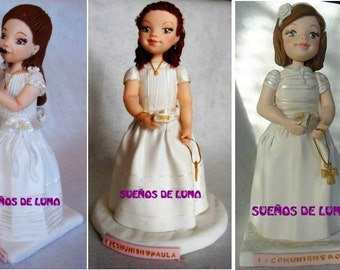 Personalized communion cold porcelain figures, from...