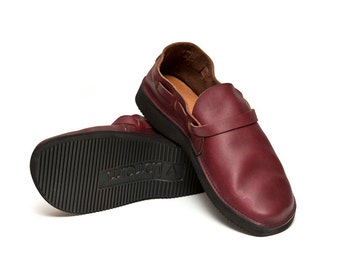 Men's OXBLOOD Handmade Leather Shoes
