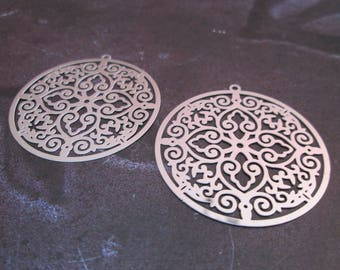 prints 2 / 34 mm stainless steel round charms