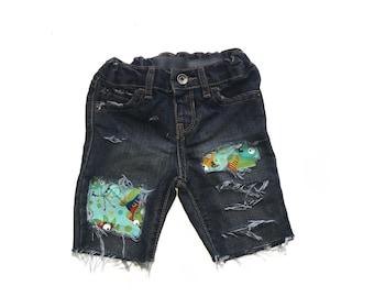 Boys Distressed Denim, Boys Patched Jeans, Boys Jean Shorts, Boys Distressed Denim Skinny Jeans, Boys Denim, Boys Shorts, Distressed Denim