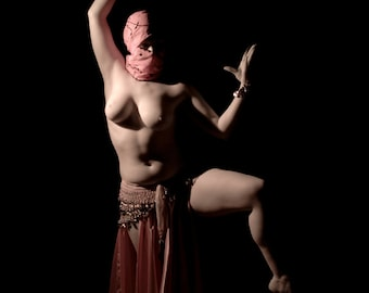 Belly dance artistic nude fine art color photo print wall art - Dancing in the dark - Infrared - 04